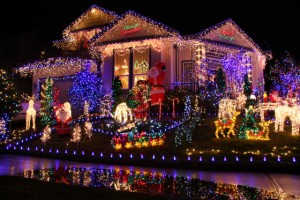 Christmas Lights Installed on House